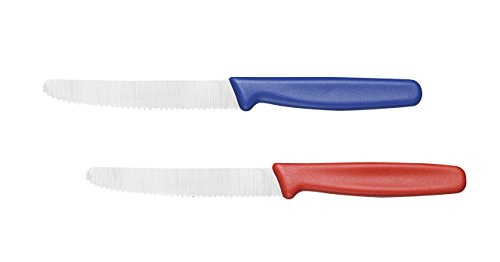 Cutlery-Pro Serrated Utility Knife Set of 2, NSF Approved, German Carbon Steel, 5-Inch Blade