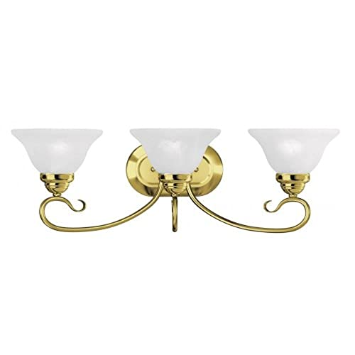 hot sale Three Light Polished Brass Vanity 6103-02