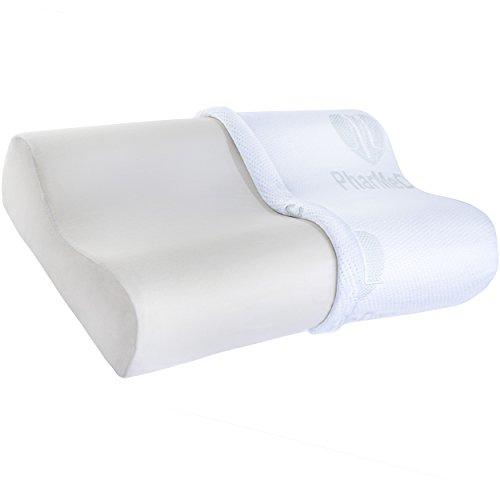 PharMeDoc-Contour-Memory-Foam-Pillow-w-Washable-Case-Firm-and-Comfortable-Optimum-Support-Pillows-Pain-Relief-for-Neck-and-Headaches-For-Side-and-Back-Sleepers