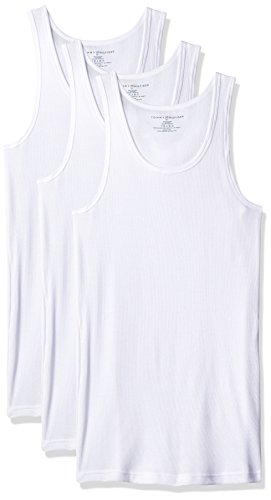 3 Pack Undershirts - Tommy Hilfiger Men's Undershirts 3 Pack Cotton Classics A Shirt, White, Large