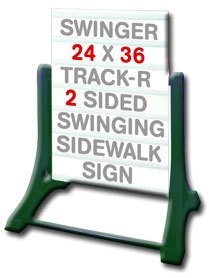 Portable Swinging Sidewalk Changeable Message Board Sign by Accent Printing & Signs