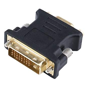 2 Pack DVI-I DVI 24+5 Pins ADWITS DVI to VGA Adapter, Male to VGA Female Converter for Computer PC Host Graphics Card DVI Output to VGA Input on HDTV Monitor and Projector