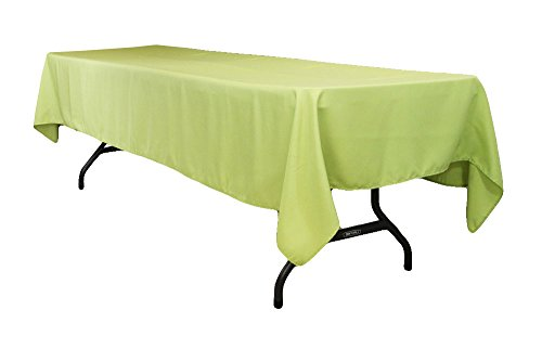 (AK-Trading 60 x 102-Inch Rectangular Polyester Tablecloth - Apple Green)