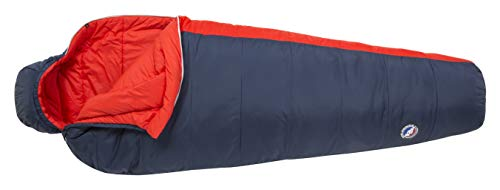 Big Agnes Husted 20 (FireLine Pro) Mummy Sleeping Bag, Regular, Left Zip, Navy/Red
