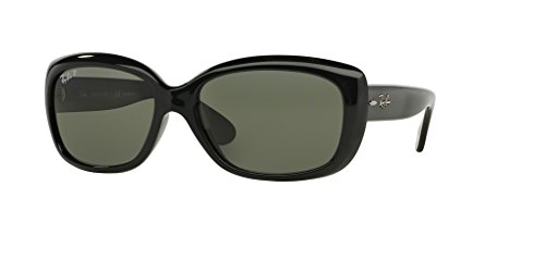 Ray-Ban RB4101 JACKIE OHH 601/58 58M Black/Green Polarized Sunglasses For ()