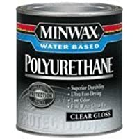 Minwax 63015 Minwax Water Based Gloss Polyurethane, 1 Quart by Minwax