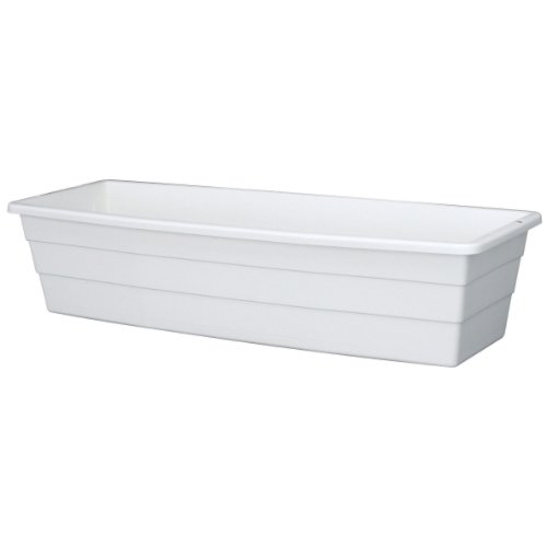 Plastic Window Box - DCN Plastic 2800-0-09 Window Planter, White