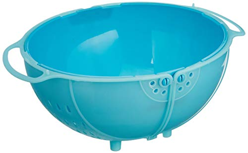 Amazon-Brand-Solimo-Plastic-DrainerColander-with-lid-Blue