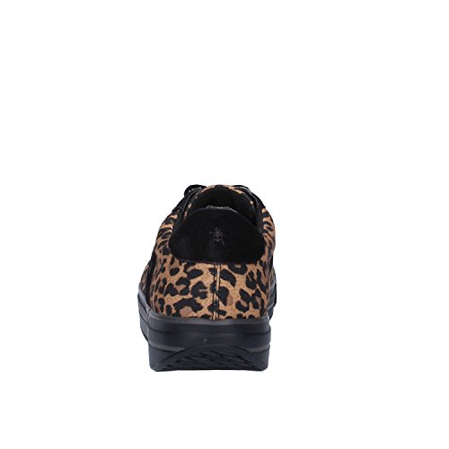 MBT Sneakers Mujer 38 EU Negro Marrón Textil Gamuza