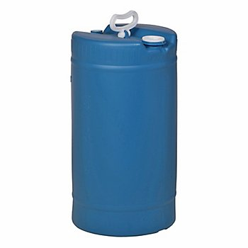 New Pig DRM1134 Tight-Head UN Rated HDPE Drum, 15 Gallon Capacity, 14.2'' Diameter x 26-1/4'' Height, Blue