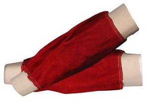 Langley rojo mangas puño elástico soldador cuero 35,56 cm para soldador/ Herrero: Amazon.es: Industria, empresas y ciencia