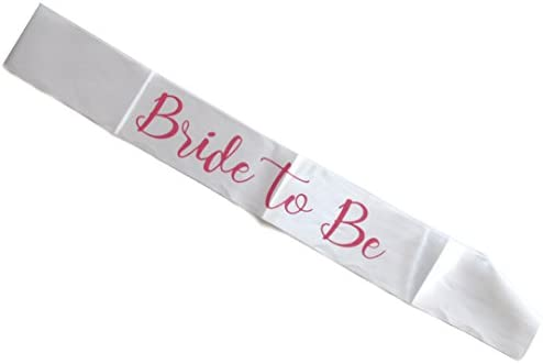 HEN PARTY BRIDESMAID BRIDE TO BE PINK SASH SILKY FABRIC ONE SIZE