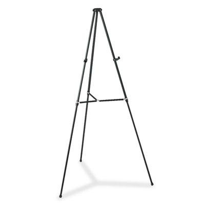 Quartet - Lightweight Telescoping Tripod Easel Adjusts 38'' To 66'' High Aluminum Black ''Product Category: Presentation/Display & Scheduling Boards/Easel Stands''