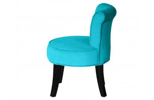 SOLDES Petit fauteuil crapaud LOUIS Velours turquoise Amazon