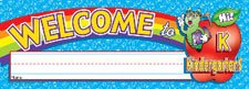 NAME PLATES WELCOME KINDERGRTN (Scholastic Nameplates)