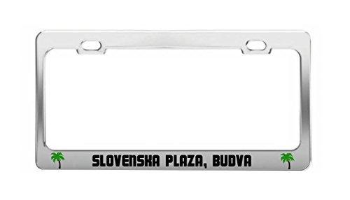 SLOVENSKA PLAZA, BUDVA Montenegro Beach Shore Coast Fun Auto License Plate - Plaza Shore