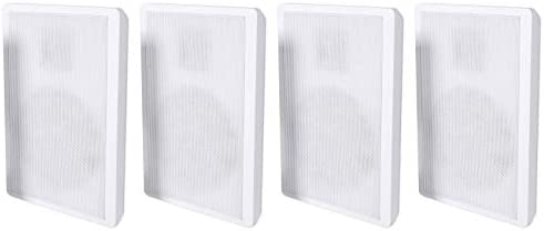 4 Rockville RockSlim White House Theater 5.25″ 240w Simple Wall Mount Slim Audio system
