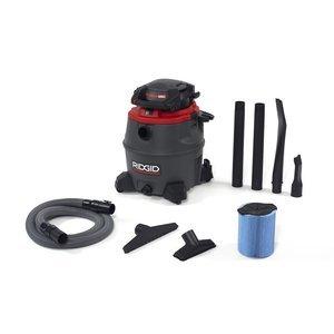 RIDGID 50343 1620RV Wet Dry Vacuum, 16-Gallon Shop Vacuum with Detachable Blower, 6.5 Peak HP Motor, Casters, Noise Reduction, Pro Hose, Drain