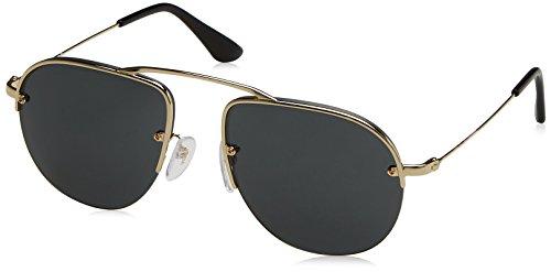 Prada Women's Brow Bar Sunglasses, Pale Gold/Grey, One - Prada Rimless Sunglasses