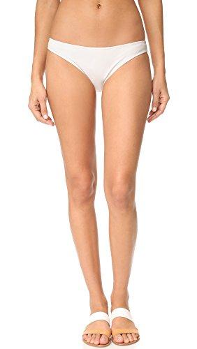 Eberjey Women's So Solid Valentina Bikini Bottom, Ecru, S