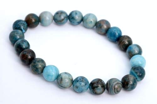 8mm Matte Blue Crazy Lace Agate Bracelet Grade Natural Round Beads 7'' Crafting Key Chain Bracelet Necklace Jewelry Accessories Pendants