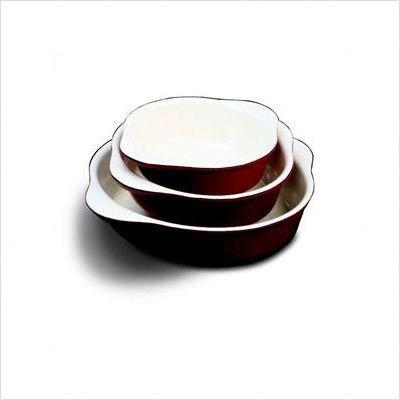 World Cuisine Yellow Enamel Cast-Iron Round Dish, 1-1/4 Qts. [World Cuisine]