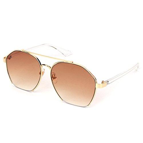 lente Grande de pantalla 8 sol JAGENIE de geometría moda decorativa mujer UV400 Gafas para Marco 9 Lujo RPqUww7