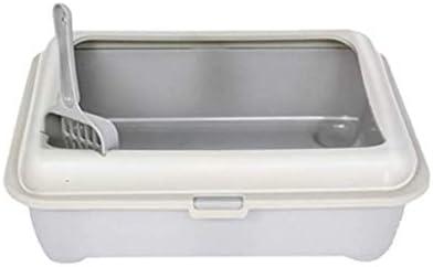ペット用品セミクローズドキャットリタートレイリム付き大容量リターボックスペットトイレ(色:C)