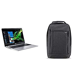 Acer Aspire 5 Slim Laptop A515-43-R19L 15.6″ Full HD IPS Display, AMD Ryzen 3 3200U, 4GB DDR4, 128GB PCIe NVMe SSD with Acer 15.6″ Gray Travel Backpack