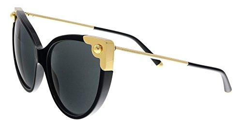 Dolce & Gabbana Women's Oversized Cat Eye Sunglasses, Black/Grey, One Size