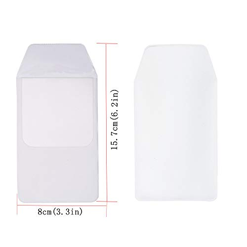 Hantier 50 Pcs White Pocket Protector for School Hospital Office; Shirts, Lab Coats, Pants Pocket Protector Supplies for Pen Leaks by Hantier (Image #5)