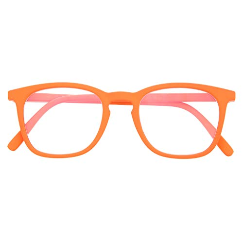 Reading Glasses for Men and Women. Blue Light Blocking Computer Readers. Rubber Touch Flexible Temple and Anti Glare Glasses. Carrot +1.5 - TATE