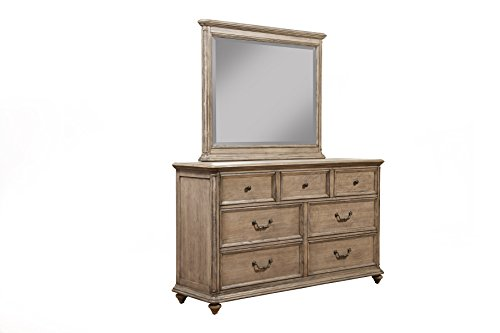 Alpine Furniture 7 Drawer Melbourne Dresser & Mirror Set,...