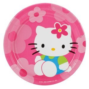 (Hello Kitty Flower Fun Birthday or Bridal Party Dessert Plates (8 Count))