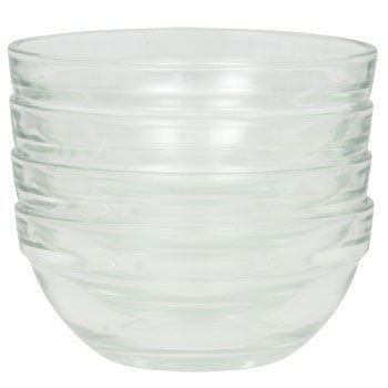 Greenbrier Mini Prep Bowls Pack of 4, 3.5in, Transparent