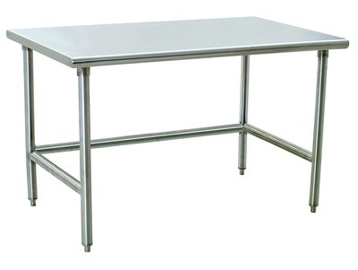 600 lbs. - Electropolished Stainless Steel Cleanroom Tables, Solid Top, Eagle MHC (Stainless Table Top Solid Steel)