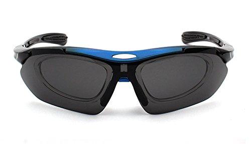 peuvent changées de de protection Protection randonnée lentilles pour vélo être Hellomiko 5 Bleu UV400 UV400 Lunettes qwx5aXn7