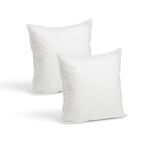 Set of 2-16 x 16 Premium Hypoallergenic Stuffer Pillow Inser