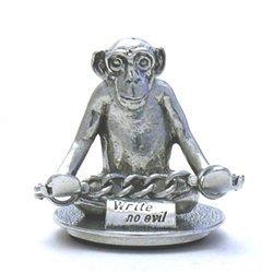 (Jac Zagoory Mini Write No Evil Monkey Pen Holder )
