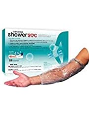"""PICC LINE Shower Covers - 25 Pack - Large - Elbow/Knee - Waterproof Infection Protection Sleeve - Fits 17-22"""" Bicep/Knee - Tattoo"""