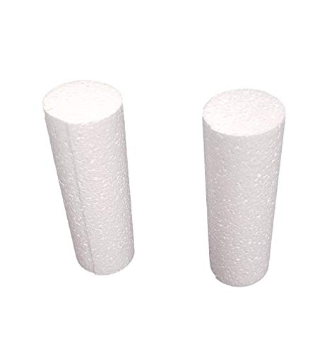 (MT Products White EPS Foam Rod Craft 2 inch Diameter x 6 Inches Length (8 Pieces))