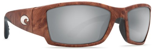 Costa Del Mar Corbina Sunglasses, gunstock, Silver Mirror 580G - Mar Corbina Costa 580g Del