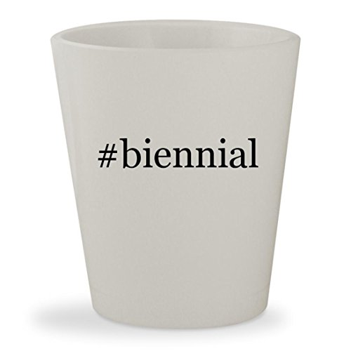 #biennial - White Hashtag Ceramic 1.5oz Shot Glass