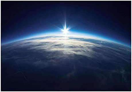 Planet Earth with a Single Light Beam on The Horizon Wall Mural