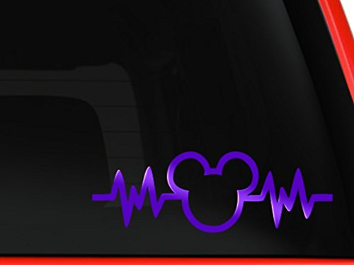 Mickey Mouse Heartbeat Car Truck Vinyl Decal Art Wall Sticke