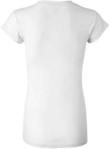 bella Ladies Kimberley Sheer Rib Short Sleeve Longer Length T-Shirt, White, XL