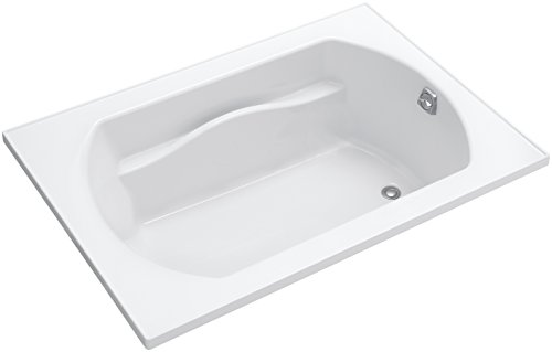 Sterling 71281100-0 Lawson Series 7128 60-Inch x 42-Inch Bath with Reversible Drain, White (Bath Tub Finish Whirlpool Reversible)