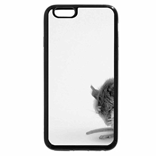 iPhone 6S Case, iPhone 6 Case (Black & White) - Choctawhatchee beach mouse