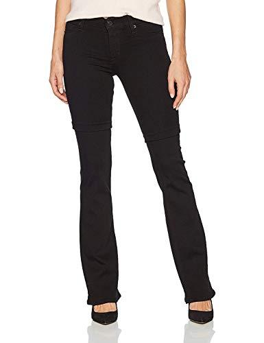 (Hudson Jeans Women's Drew Midrise Bootcut 5 Pocket Jean, Black, 27)