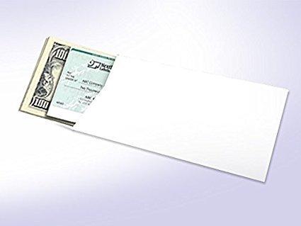#7 Coin Envelope 3 1/2'' x 6 1/2'' White Wove 100 per Pack